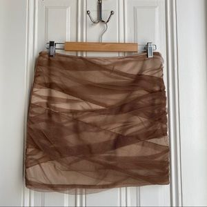 Lola Brown Tulle Wrapped Skirt